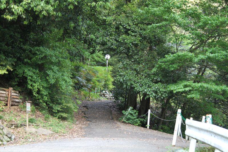 岐阜金華山 七曲登山道入口付近